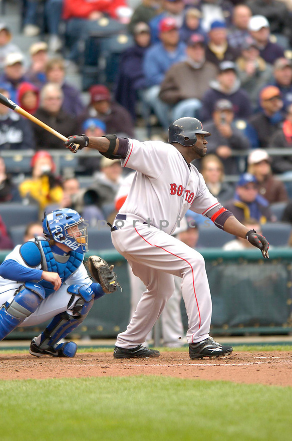 DAVID ORTIZ, of the Boston Red Sox during their game against the  Kansas City Royals, on April 5, 2007 in Kansas City, Missouri. ..Red Sox  win 4-1....DAVID DUROCHIK / SPORTPICS
