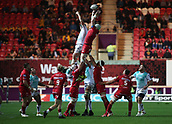 29th September 2017, Parc y Scarlets, Llanelli, Wales; Guinness Pro14 Rugby, Scarlets versus Connacht; Scarlets win the lineout