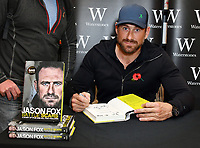 Jason Fox, ex-special forces soldier and frontman of Channel 4&rsquo;s hit show SAS: Who Dares Wins signed copies of his memoir, Battle Scars, an account of the operations that defined his military service and reflection on the psychological impact of modern combat, at Waterstones Leadenhall Market, London, UK on November 01, 2018.<br /> CAP/JOR<br /> &copy;JOR/Capital Pictures
