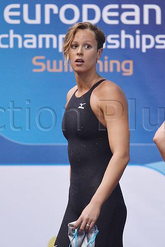 21.05.2012.  Debrecen Hungary. Federica Pellegrini Italy Womens 4x100 Freestyle Debrecen European Swimming Championships
