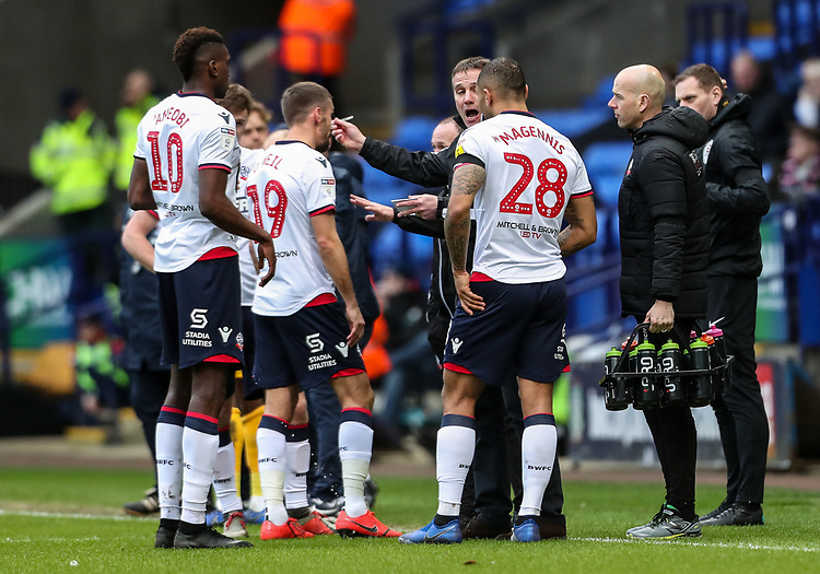 Bolton Wanderers' manager Phil Parkinson instructs his players  <br /> <br /> Photographer Andrew Kearns/CameraSport<br /> <br /> The EFL Sky Bet Championship - Bolton Wanderers v Preston North End - Saturday 9th February 2019 - University of Bolton Stadium - Bolton<br /> <br /> World Copyright &copy; 2019 CameraSport. All rights reserved. 43 Linden Ave. Countesthorpe. Leicester. England. LE8 5PG - Tel: +44 (0) 116 277 4147 - admin@camerasport.com - www.camerasport.com