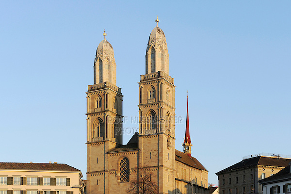 Grossmuenster,Zurich, Switzerland, Europe