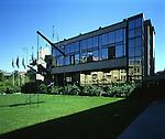 L'edificio della Galleria Civica di Arte Moderna e Contemporanea di Torino. Civic Gallery of Modern and Contemporary Arts.