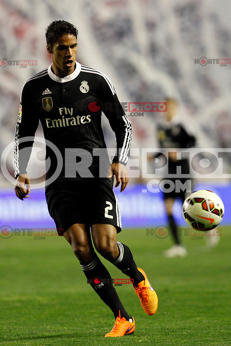 Varane of Real Madrid during La Liga match between Rayo Vallecano and Real Madrid at Vallecas Stadium in Madrid, Spain. April 08, 2015. (ALTERPHOTOS/Caro Marin) /NORTEphoto.com