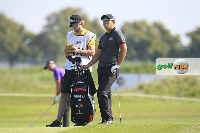 Byeong Hun An (KOR) on the 7th fairway during Round 1 of the 2016 KLM Open at the Dutch Golf Club at Spijk in The Netherlands on 08/09/16.<br /> Picture: Thos Caffrey | Golffile