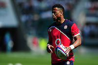 Anthony Watson of England looks on during the pre-match warm-up. Old Mutual Wealth Cup International match between England and Wales on May 29, 2016 at Twickenham Stadium in London, England. Photo by: Patrick Khachfe / Onside Images