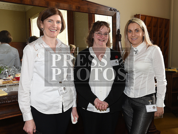Volunteers Bernie Murphy, Louise Larens and Aga Hutcheson helping out at the Gormanston College tours. Photo:Colin Bell/pressphotos.ie