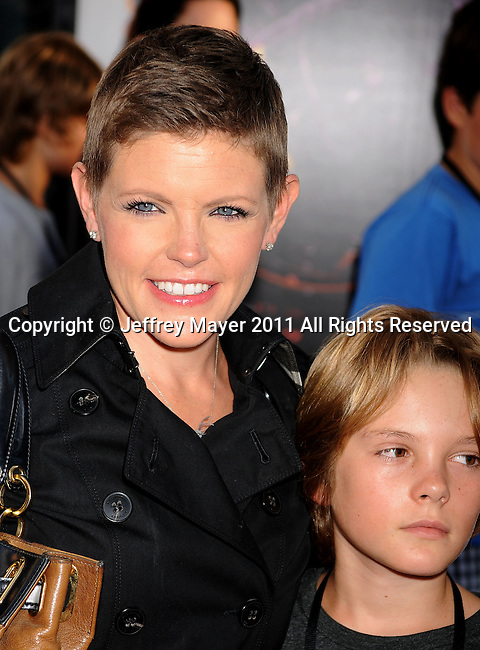 """UNIVERSAL CITY, CA - OCTOBER 02: Natalie Maines  attends the """"Real Steel"""" Los Angeles Premiere at Gibson Amphitheatre on October 2, 2011 in Universal City, California."""