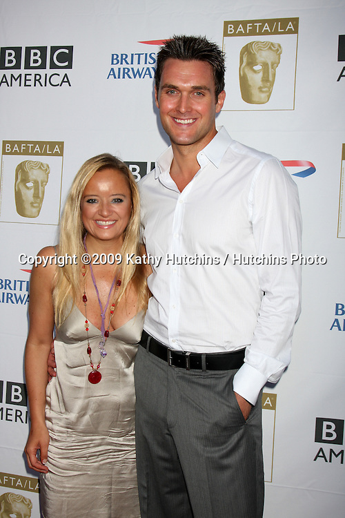 Lucy Davis & Owain Yeoman.arriving at the 2009 BAFTA TV Tea Party.Royce Hall, UCLA.Century City, CA.September 19, 2009.©2009 Kathy Hutchins / Hutchins Photo.