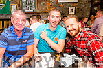 Pat Costello, Bredan Smith and Keith Costello enjoying the Table Quiz in aid of Classic FC in the Greyhound Bar on Friday