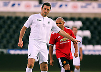 Sam Ricketts of Swansea Legends during the Alan Tate Testimonial Match, Swansea City Legends v Manchester United Legends at the Liberty Stadium, Swansea, Wales, UK