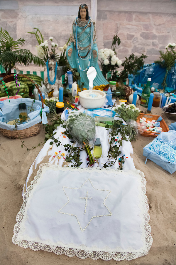 "Ritual offering on the ""Day of Yemanja"", goddess of water, in Montevideo, Uruguay."