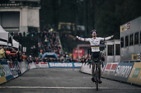after a few weeks off (training in Spain) this is a sweet (and strong) victory for CX world champion Wout Van Aert (BEL/Crelan-Charles) in a season dominated by rival Mathieu van der Poel<br /> <br /> Elite Men's race<br /> UCI CX World Cup Namur / Belgium 2017