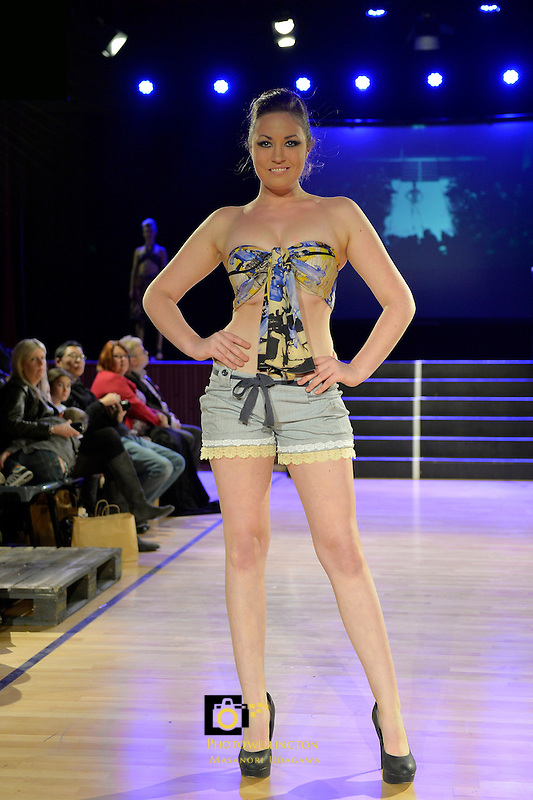 By Stamo, New Zealand Eco Fashion Exposed, Eco Designer Runway at Notre Dame Performing Arts Centre, Lower Hutt, New Zealand on Saturday 26 July 2014. <br /> Photo by Masanori Udagawa. <br /> www.photowellington.photoshelter.com.