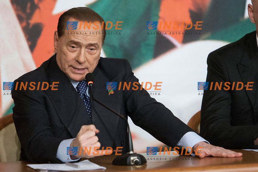 Silvio Berlusconi <br /> Roma 07-05-2014 Sede di Forza Italia. Conferenza stampa sulle politiche per la cultura.<br /> Press conference on Forza Italia Culture Program<br /> Photo Samantha Zucchi Insidefoto