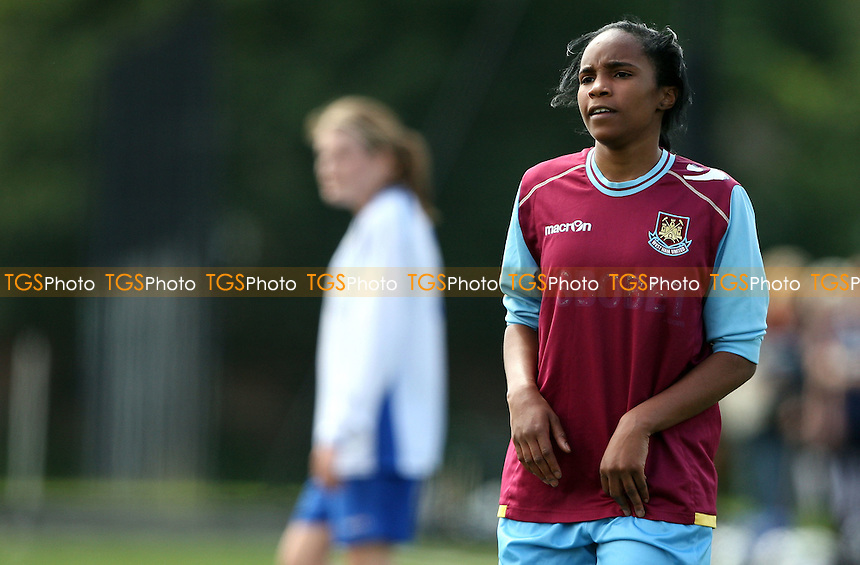 Samantha Rowland of West Ham - West Ham United Ladies vs Enfield Town Ladies, Pre-season Friendly at Chadwell Heath - 15/07/12 - MANDATORY CREDIT: Rob Newell/TGSPHOTO - Self billing applies where appropriate - 0845 094 6026 - contact@tgsphoto.co.uk - NO UNPAID USE.