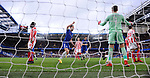 Gary Cahill of Chelsea celebrates after Chelsea's 1st goal with dejected Stoke City players during the premier league match at Stamford Bridge Stadium, London. Picture date 30th December 2017. Picture credit should read: Robin Parker/Sportimage