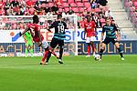 Herthas Ondrej Duda und der Herthas Vedad Ibisevic mit dem Mainzer Moussa Niakhate vor dem Mainzer Tor<br /> <br /> <br />  beim Spiel in der Fussball Bundesliga, 1. FSV Mainz 05 - Hertha BSC.<br /> <br /> Foto &copy; PIX-Sportfotos *** Foto ist honorarpflichtig! *** Auf Anfrage in hoeherer Qualitaet/Aufloesung. Belegexemplar erbeten. Veroeffentlichung ausschliesslich fuer journalistisch-publizistische Zwecke. For editorial use only.