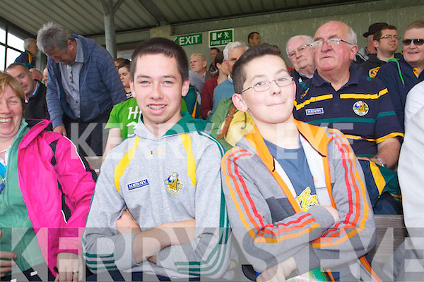 Jonathan O'Shea and Cathal O'Shea pictured at the Westmeath v Kerry match in Mullingar on Sunday..