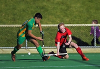 Central v Canterbury men. 2019 National Hockey Under-18 Tournament at National Hockey Stadium in Wellington, New Zealand on Thursday, 11 July 2019. Photo: Dave Lintott / lintottphoto.co.nz