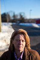 Barbara O' Connor is Director of Public Safety and Chief of Police at the University of Connecticut in Storrs, Connecticut, USA. She is seen here on Horsebarn Hill Road near the site where Bruce Alan Ursin attempted to abduct and rape a young woman in 2012. The road has a number of agricultural education facilities along it.