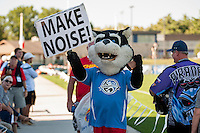 Kansas City, MO - Sunday September 11, 2016: FC Kansas City Mascot prior to a regular season National Women's Soccer League (NWSL) match between FC Kansas City and the Chicago Red Stars at Swope Soccer Village.