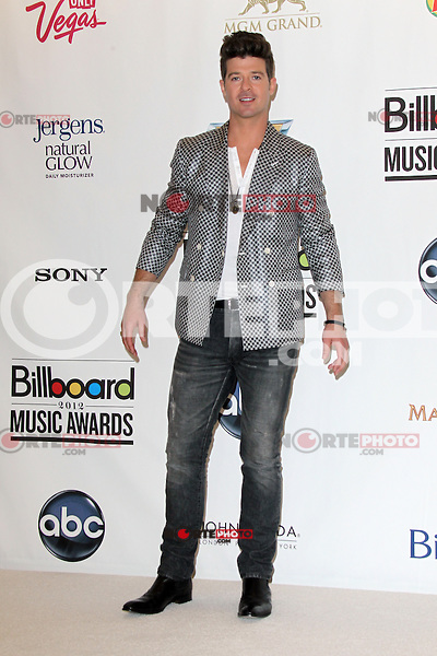 Robin Thicke at the 2012 Billboard Music Awards pressroom held at the MGM Grand Garden Arena on May 20, 2012 in Las Vegas, Nevada. © mpi28/MediaPUnch Inc.