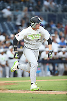 Tim Elko (27) of the East Team runs to first base during a game against the West Team during the Perfect Game All American Classic at Petco Park on August 14, 2016 in San Diego, California. West Team defeated the East Team, 13-0. (Larry Goren/Four Seam Images)
