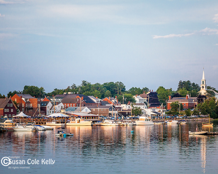 Historic Damariscotta and the Sheepscot River in Damariscotta, Maine, USA