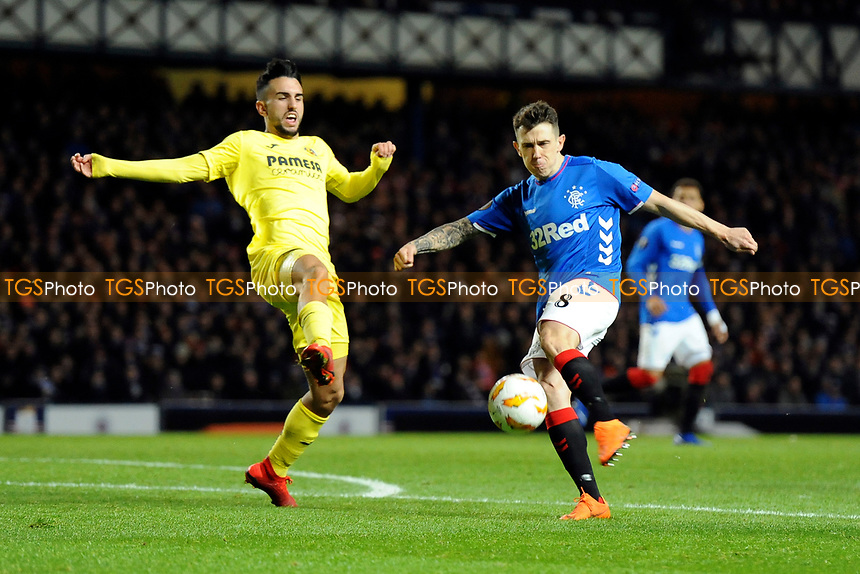 Ryan Jack of Rangers has a shot at goal during Rangers vs Villarreal CF, UEFA Europa League Football at Ibrox Stadium on 29th November 2018