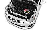Car Stock 2018 Mitsubishi Mirage-G4 SE-CVT 4 Door Sedan Engine  high angle detail view