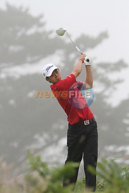 Delon Hau (WALES) on the 10th on the Final Day at the 2012 Boys Home Internationals at Co.Louth Golf Club in Baltray, Co.Louth...(Photo credit should read Jenny Matthews/NEWSFILE)...