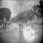Frederick Stone negative. Laying tracks for Trolley. 1894.