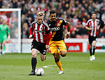 Mark Duffy of Sheffield Utd in action during the English League One match at Bramall Lane Stadium, Sheffield. Picture date: April 17th 2017. Pic credit should read: Simon Bellis/Sportimage