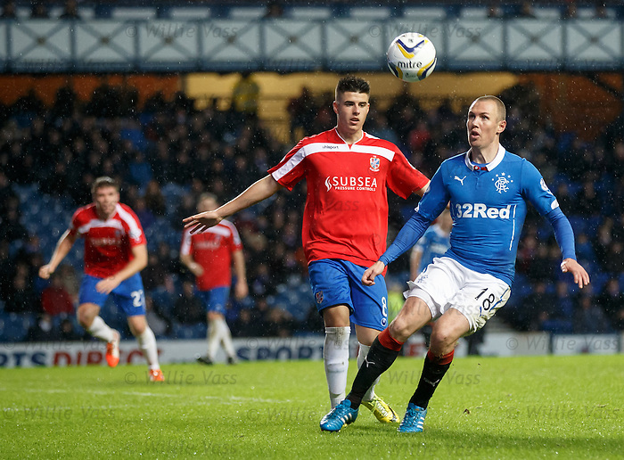 Kenny Miller shadowed by Lewis Milne