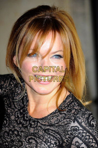 Gerri Halliwell.58th annual Ivor Novello songwriting and composing awards, Grosvenor House, London, England, UK, 16th May 2013..portrait headshot  ginger spice girls smiling black lace patterned .CAP/CJ.©Chris Joseph/Capital Pictures.