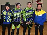 Mark Kimmins, John Sherry, Michael Halligan and Jimmegan who took part in the Duleek Parish School cycle. Photo:Colin Bell/pressphotos.ie