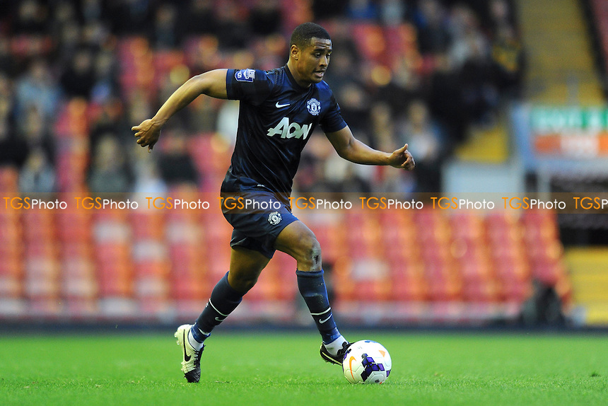 Saidy Janko of Manchester United - Liverpool Under-21 vs Manchester United Under-21 - Barclays Under-21 Premier League Football at Anfield, Liverpool - 02/05/14 - MANDATORY CREDIT: Greig Bertram/TGSPHOTO - Self billing applies where appropriate - 0845 094 6026 - contact@tgsphoto.co.uk - NO UNPAID USE
