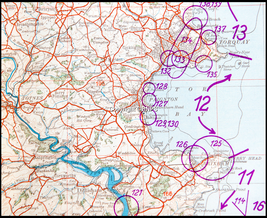BNPS.co.uk (01202 558833)<br /> Pic: PhilYeomans/BNPS<br /> <br /> Torquay in Devon was mapped.<br /> <br /> Chilling - Hitlers 'How to' guide to the invasion of Britain.<br /> <br /> A remarkably detailed invasion plan pack of Britain has been unearthed to reveal how our genteel seaside resorts would have been in the front line had Hitler got his way in World War Two.<br /> <br /> The Operation Sea Lion documents, which were issued to German military headquarters' on August 1, 1940, contain numerous maps and photos of every town on the south coast.<br /> <br /> They provide a chilling reminder of how well prepared a German invading force would have been had the Luftwaffe not been rebuffed by The Few in the Battle of Britain.<br /> <br /> There is a large selection of black and white photos of seaside resorts and notable landmarks stretching all the way from Land's End in Cornwall to Broadstairs in Kent.<br /> <br /> The pack also features a map of Hastings, raising the possibility that a second battle could have been staged there, almost 900 years after the invading William The Conqueror triumphed in 1066.