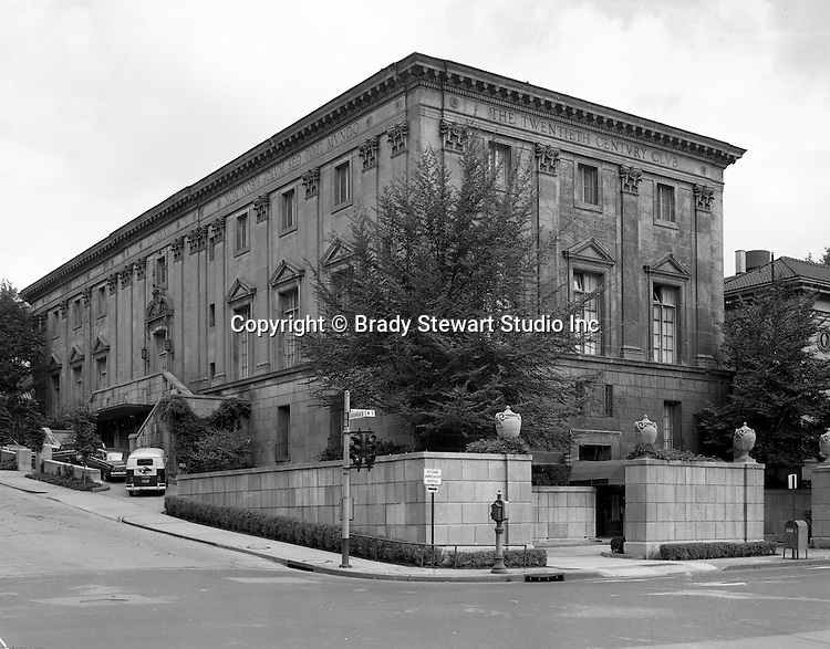 Pittsburgh PA - View of the Twentieth Century Club building in Oakland - 1965.  The original charter was dedicated to the purpose of creating an organized center for women's work, thought and action and the advancement of her interests and the promotion of science, literature and arts.