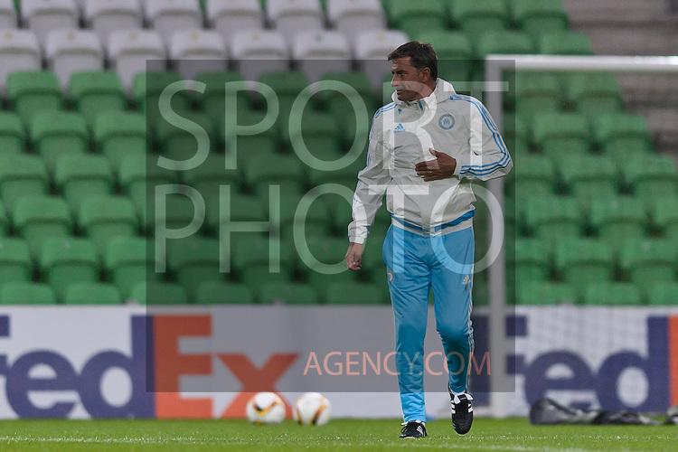 Voetbal: 16-9-2015,UEFA, Fc Groningen vs Olympique de Marseille,training,Michel coach of Olympique de Marseille