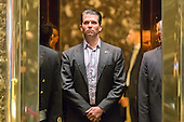 Donald Trump, Jr. is seen upon his arrival in the lobby of Trump Tower in New York, NY, USA on January 18, 2017. <br /> Credit: Albin Lohr-Jones / Pool via CNP