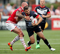 Elliot Kear in action for London during the Kingstone Press Championship game between London Broncos and Leigh Centurions at Ealing Trailfinders, Ealing, on Sun June 26, 2016
