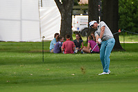 Ian Poulter (GBR) hits his approach shot on 9 during round 1 of the 2019 Charles Schwab Challenge, Colonial Country Club, Ft. Worth, Texas,  USA. 5/23/2019.<br /> Picture: Golffile | Ken Murray<br /> <br /> All photo usage must carry mandatory copyright credit (© Golffile | Ken Murray)