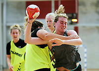 New Zealand Women's Handball training at ASB Sports Centre in Wellington, New Zealand on Saturday, 17 March 2018. Photo: Dave Lintott / lintottphoto.co.nz