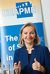Brussels-Belgium - January 27, 2016 -- Mag Ulrike RABMER-KOLLER, President of UEAPME (European Association of Small and medium-sized Enterprises), and Vice-President of Austrian Federal Economic Chamber (WKÖ) during press breakfast at UEAPME -- Photo: © HorstWagner.eu