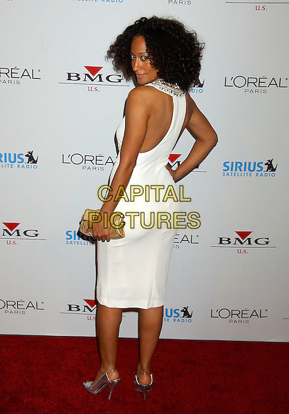 TRACEE ELLIS ROSS.2005 Clive Davis Annual Grammy Party held at the Beverly Hills Hotel, Beverly Hills, California, USA, .12 February 2005..full length white dress.Ref: ADM.www.capitalpictures.com.sales@capitalpictures.com.©LFarr/AdMedia/Capital Pictures .