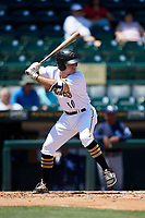 Bradenton Marauders third baseman Daniel Arribas (30) at bat during a game against the Charlotte Stone Crabs on April 9, 2017 at LECOM Park in Bradenton, Florida.  Bradenton defeated Charlotte 5-0.  (Mike Janes/Four Seam Images)