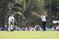 Alex Noren (SWE) on the 14th during the 1st round at the The Masters , Augusta National, Augusta, Georgia, USA. 11/04/2019.<br /> Picture Fran Caffrey / Golffile.ie<br /> <br /> All photo usage must carry mandatory copyright credit (© Golffile | Fran Caffrey)