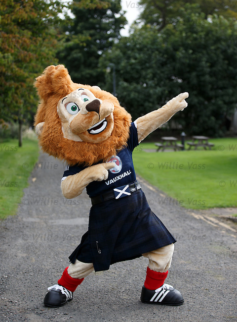 Scotland mascot Roary the Lion thinks he is Usain Bolt